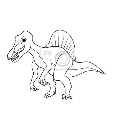 Libro Da Colorare Spinosaurus Dinosauri Carta Da Parati Carte