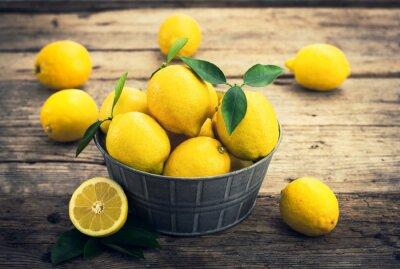 Carta da parati Limoni freschi sul racconto rustico