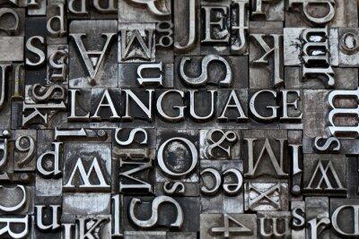 Carta da parati lingua