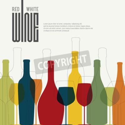 Carta da parati Lista dei vini di progettazione
