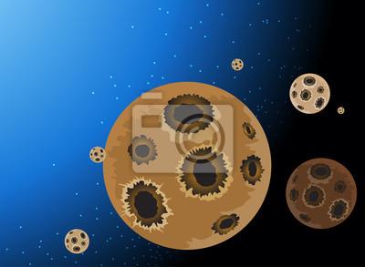 Lo spazio esterno pianeta cartone animato sfondo della natura