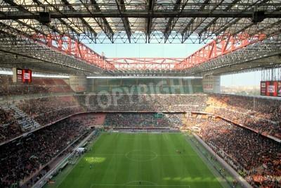Carta da parati Lo stadio di San Siro durante una partita di calcio AC Milan