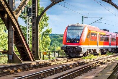 Carta da parati Locomotiva elettrica a Francoforte
