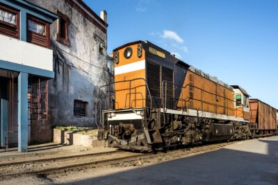 Carta da parati Locomotore presso la stazione di Camagüey Cuba