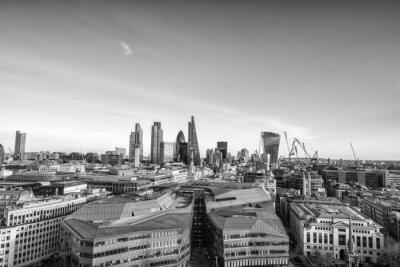 Carta da parati London skyline in costruzione