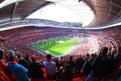 Carta da parati LONDRA - 14 aprile: I sostenitori guardare la partita di calcio del Liverpool - Everton Semi Finale FA Cup Folla allo stadio di Wembley Arena il 14 aprile 2012 a Londra, Inghilterra Regno Unito.