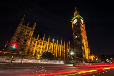 Carta da parati Londra Big Ben, di notte