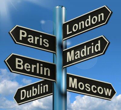 Carta da parati Londra Parigi Berlino Madrid di orientamento Mostro Europa Viaggi Touris