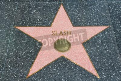 Carta da parati LOS ANGELES, USA - 5 APRILE 2014: Slash (chitarrista di Guns N 'Roses) sta alla famosa Walk of Fame di Hollywood. Hollywood Walk of Fame presenta più di 2.500 stelle con nomi di celebrità inscritti.