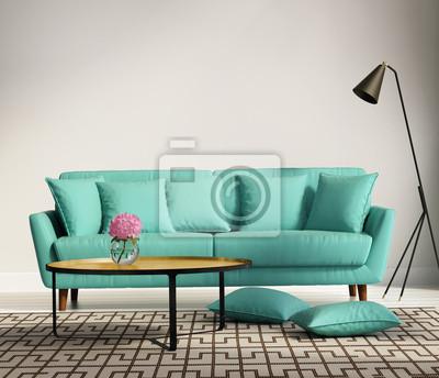 Luce verde stile fresco, romantico interno soggiorno carta da parati ...