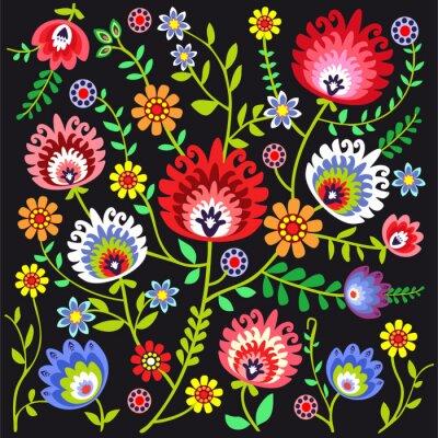 Carta da parati Ludowy wzór kwiatowy