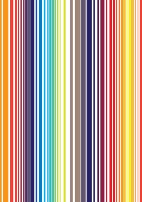 Carta da parati luminoso motivo a strisce di colore pieno senza soluzione di continuità. Vector illustration f