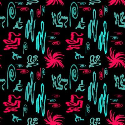 Carta da parati luminoso sfondo astratto graffiti seamless pattern