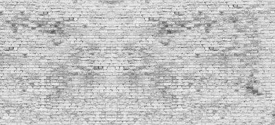 Carta da parati Lungo muro di mattoni bianchi