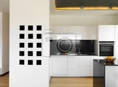 Lussuosa moderna cucina bianca carta da parati • carte da parati ...