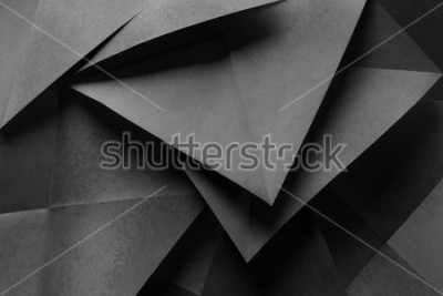 Carta da parati Macro image of paper folded in geometric shapes, three-dimensional effect, abstract background
