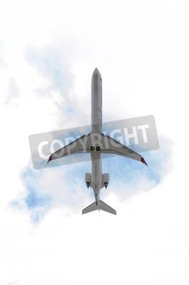 Carta da parati MADRID, SPAGNA - 14 giugno 2015: un aereo Canadair CRJ--Bombardier 900-, di compagnia aerea -Aria Nostrum-, sta decollando dall'aeroporto di Madrid-Barajas -Adolfo Suarez-, il 14 giugno 2015.