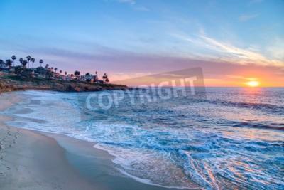 Carta da parati Magnifico tramonto a La Jolla in California