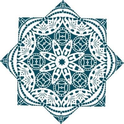 Carta da parati Mandala etnica disegno illustrazione indiano