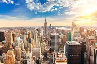 Carta da parati Manhattan aerial view
