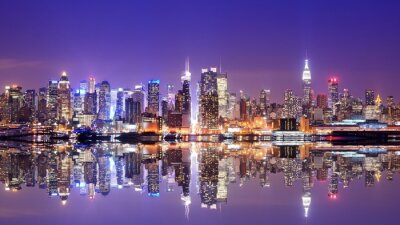 Carta da parati Manhattan Skyline con le riflessioni