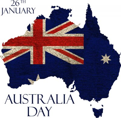 Carta da parati manifesto giorno in Australia