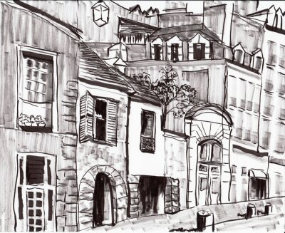 Carta da parati mano a costruire pareggio parigi