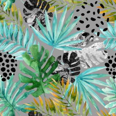 Carta da parati Mano disegnata astratto sfondo tropicale estate