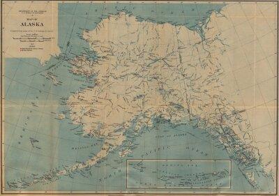 Carta da parati mappa d'epoca