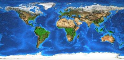 Carta da parati mappa del mondo ad alta risoluzione e morfologia