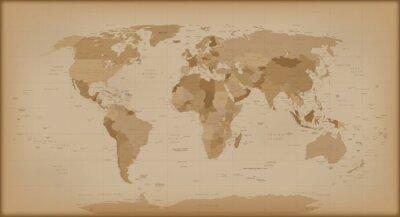 Carta da parati Mappa del mondo Vintage