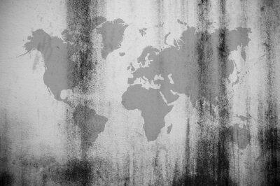 Carta da parati Mappa del muro sporco