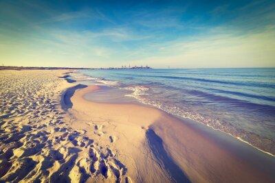 Carta da parati Mar Baltico spiaggia, foto d'epoca.