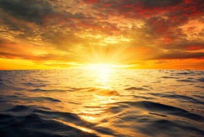 Carta da parati mare e il tramonto