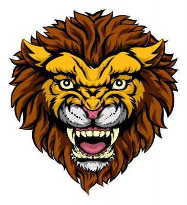 Carta da parati mascotte del leone