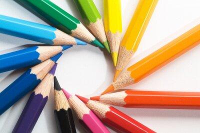 Carta da parati matita di colore
