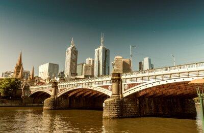 Carta da parati Melbourne, Victoria - Australia. Bella skyline della città