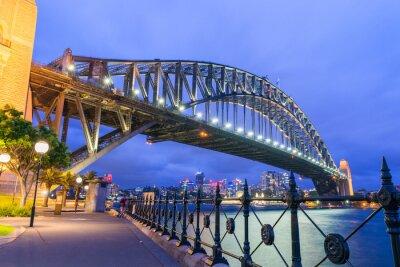 Carta da parati Meraviglioso notte skyline di Sydney, Australia
