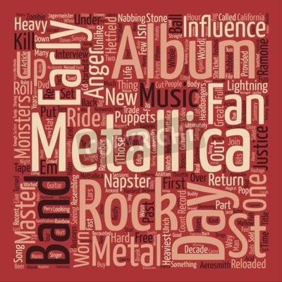Carta da parati Metallica St Anger testo sfondo word nuvola concetto