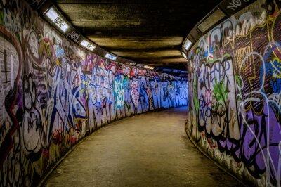 Carta da parati metropolitana Graffiti