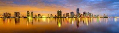 Carta da parati Miami, Florida Biscayne Bay Skyline Panorama