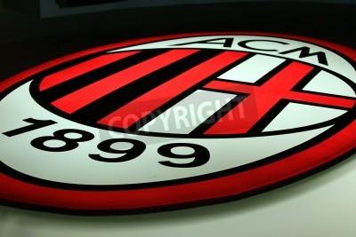 Carta da parati Milan, Italy, September 20, 2010 - AC Milan logo.