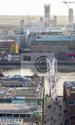 Carta da parati Millennium Bridge dall'alto