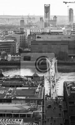 Carta da parati Millennium bridge from above