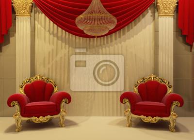 Carta da parati: Mobili in stile barocco in interno royal