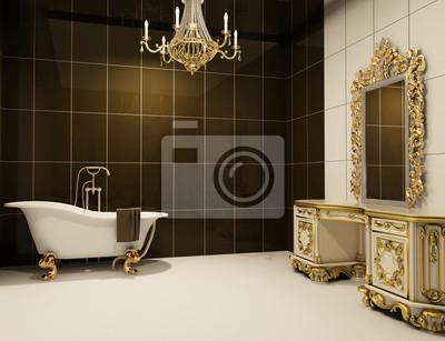 Mobili in stile barocco nel bagno carta da parati u carte da