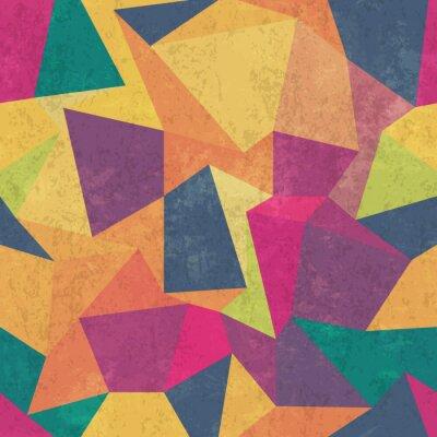Carta da parati modello a triangolo. Colorato, grunge e senza soluzione di continuità. effetti grunge