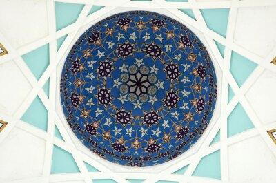 Carta da parati Modello all'interno della cupola principale della moschea dello stato di Sarawak. La più grande moschea per i musulmani nello stato di Sarawak, nella Malesia orientale. Disegno del modello di ripetizi