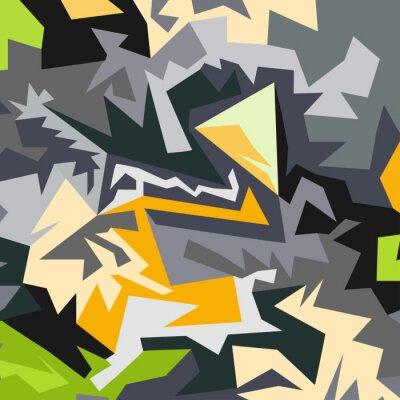 Carta da parati modello astratto di illustrazione vettoriale poligoni