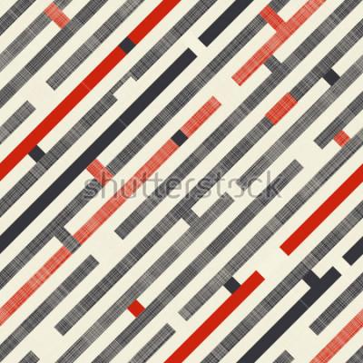 Carta da parati Modello astratto senza cuciture con strisce diagonali sullo sfondo della trama in colori retrò. Il modello senza fine può essere utilizzato per piastrelle di ceramica, carta da parati, linoleum, tessu